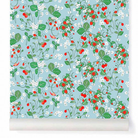 Papier Peint Strawberry Fields Multicolore Little Cabari