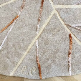 Tapis Leaf Beige Little Cabari
