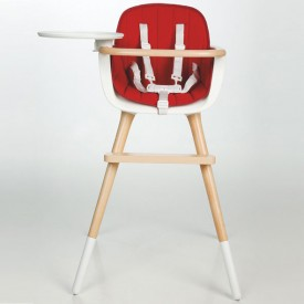 Assise - Chaise haute OVO - Rouge Rouge Micuna