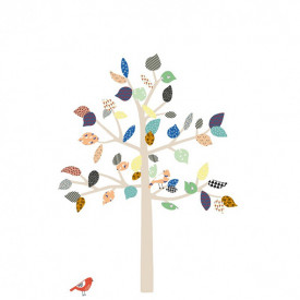 Sticker - Big Tree - S Multicolore MIMI'lou
