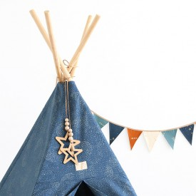 Tipi Phoenix Bubble - Elements - Bleu nuit / Or Bleu Nobodinoz