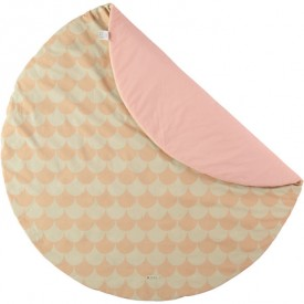 Tapis rond Apache - Ecaille - Rose Rose Nobodinoz