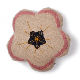 Coussin Pensée Rose Oeuf NYC