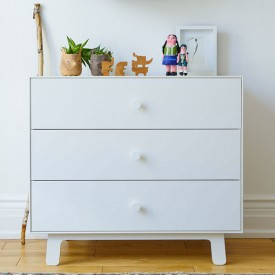 Commode Merlin 3 tiroirs - Sparrow - Blanc Blanc Oeuf NYC
