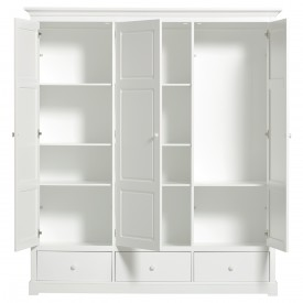 Armoire 3 portes Seaside (H : 195 cm) Blanc Oliver Furniture