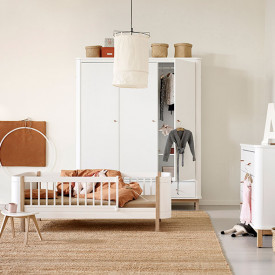 Lit Junior 68 x 162 cm Wood Mini+ - Chêne Blanc Oliver Furniture