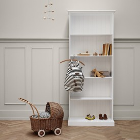 Bibliothèque Seaside - 182 cm Blanc Oliver Furniture