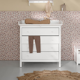 Commode 4 Tiroirs Seaside Blanc Oliver Furniture