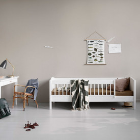 Lit junior 74 x 174 cm Seaside Lille+ Blanc Oliver Furniture
