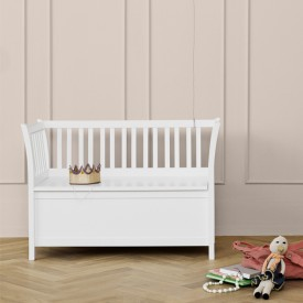 Banc de rangement Seaside - Blanc Blanc Oliver Furniture