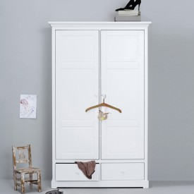 Armoire 2 portes Seaside (H : 195 cm) Blanc Oliver Furniture