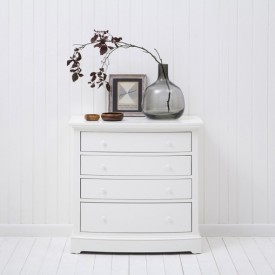 Commode Seaside avec façade arrondie Blanc Oliver Furniture