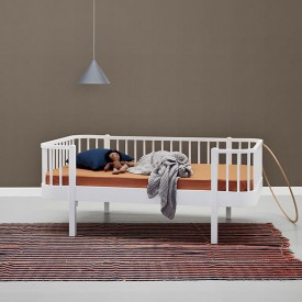 Lit banquette junior 90 x 160 cm Wood - Blanc Blanc Oliver Furniture