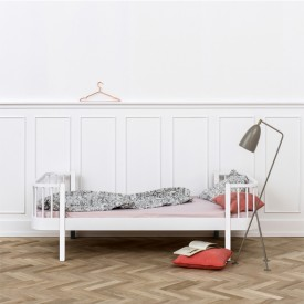 Lit enfant 90 x 200 cm Wood - Blanc Blanc Oliver Furniture
