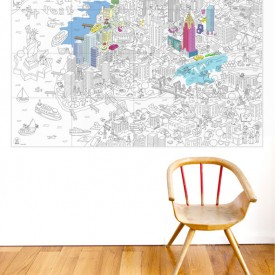 Coloriage géant New York Blanc OMY Design & Play