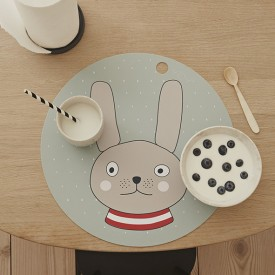 Set de table - Lapin Bleu OYOY