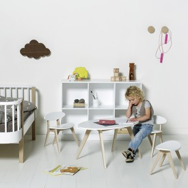 Chaise enfant Ping Pong Blanc Oliver Furniture