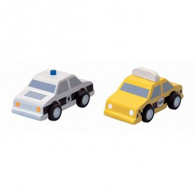 Taxi / Voiture de police Multicolore Plantoys