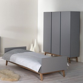 Lit Simple Trendy 90 x 200 cm - Griffin Grey Gris Quax