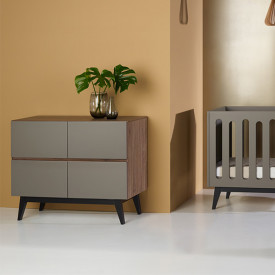 Commode 4 tiroirs Trendy - Royal Oak Naturel Quax