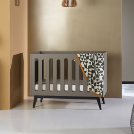 Lit bébé évolutif Trendy 60 x 120 cm - Royal Oak Naturel Quax