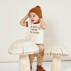 T-Shirt Ringer - Made of Stars Blanc Rylee + Cru