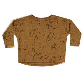 T-Shirt ML - Into the Woods Marron / Taupe Rylee + Cru