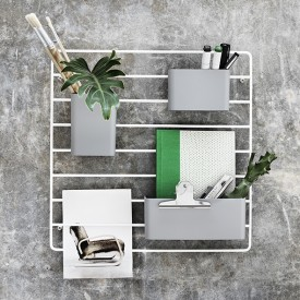 Set de 3 pots de rangement - Gris Gris String Furniture