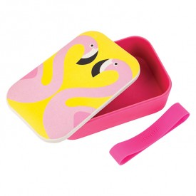 Eco Lunch Box - Flamant Rose Multicolore Sunnylife