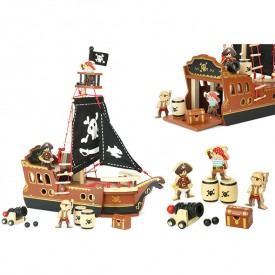 Bateau de Pirates Multicolore Vilac