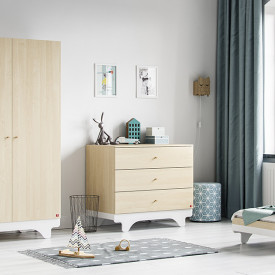 Commode Playwood - Bouleau / Blanc Naturel Vox