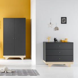 Commode Playwood - Bouleau / Graphite Gris Vox
