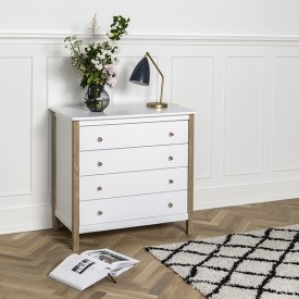 Commode Wood Blanc Oliver Furniture