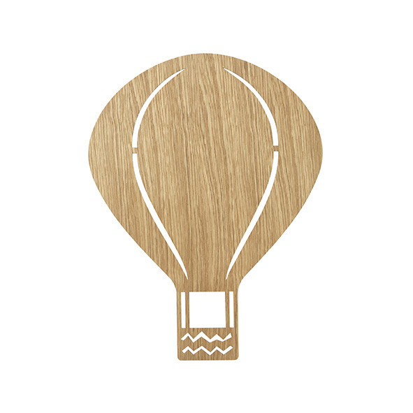 Lampe Heissluftballon – Eiche, lackiert Natural Ferm Living Kids