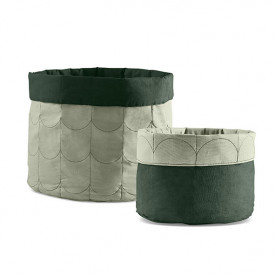 2er Set Stoffkorb Room - Moss Green