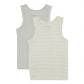 2er-Set Tanktops – Minze / Gestreift