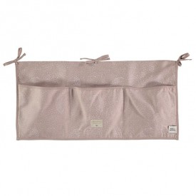 Betttasche Merlin - Bubble - Elements - Rosa/ Weiss