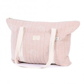 Wickeltasche Paris Bubble - Elements - Rosa/ Weiss