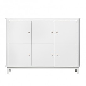 Multi-Schrank Wood - Weiss  Weiss Oliver Furniture