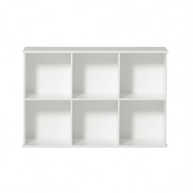 Wood Regal 3 x 2 Weiss Oliver Furniture
