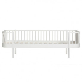 Wood Bettsofa 90 x 200 cm - Weiss