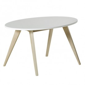 PingPong Kindertisch Weiss Oliver Furniture