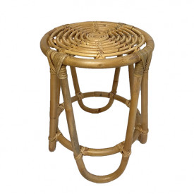Hocker June aus Rattan