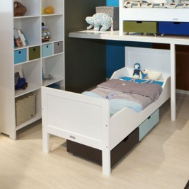 Kinderbett Romy 70 x 150 cm Mix & Match - Weiss Weiss Bopita