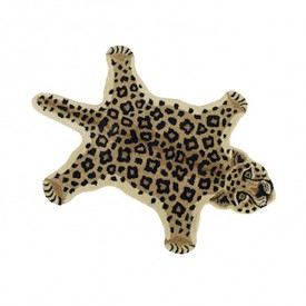 Teppich Leopard Loony - S - 100 x 60 cm Multi-Farbe Doing Goods