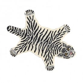 Teppich Tiger Snowy - S - 100 x 60 cm Multi-Farbe Doing Goods