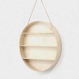 The Round Dorm Wandregal Natural Ferm Living Kids