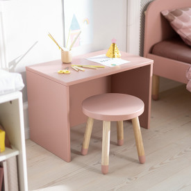 Kleiner Hocker PLAY - Hellrosa Rosa Flexa