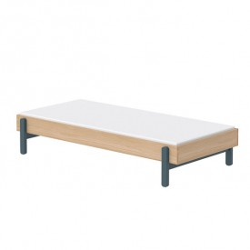 Einzelbett Popsicle 90 x 200 cm - Blueberry Blau Flexa
