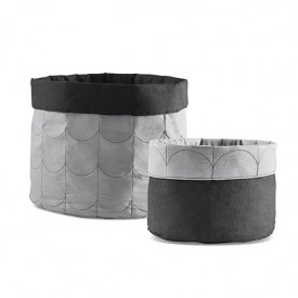 2er Set Stoffkorb Room - Mountain Grey Grau Flexa